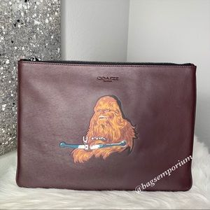Coach Star Wars Chewbacca Large Leather Pouch